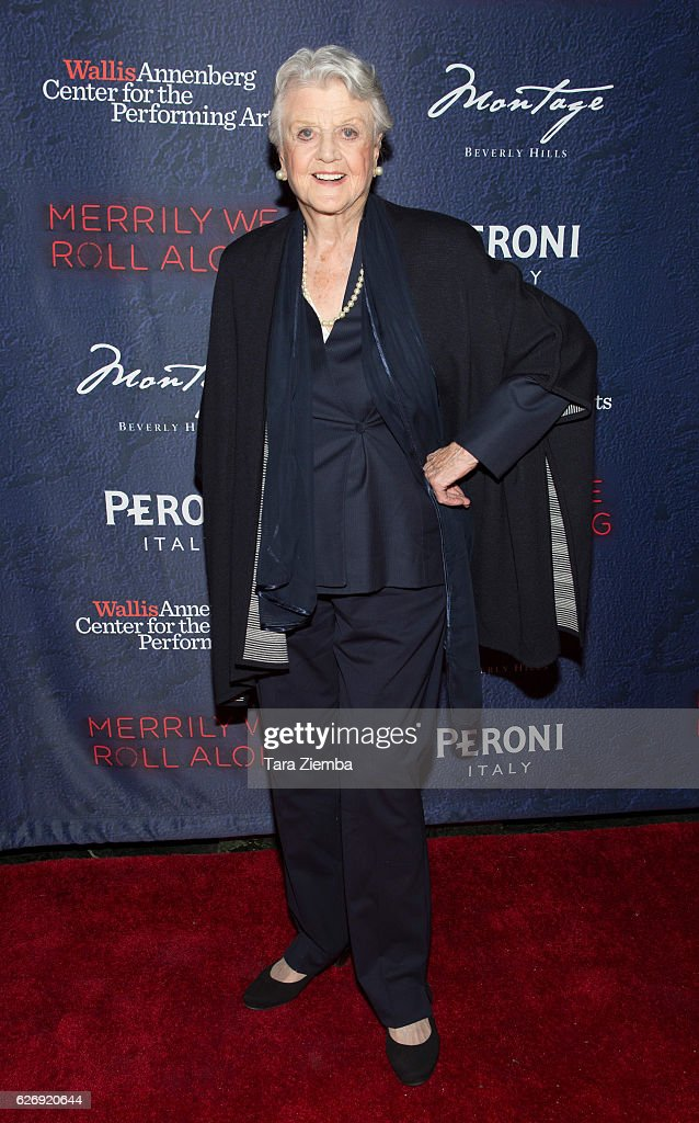 Angela Lansbury attends opening night of Stephen Sondheim's 'Merrily We Roll Along' at Wallis Annenberg Center for the Performing Arts on November 30, 2016 in Beverly Hills, California.