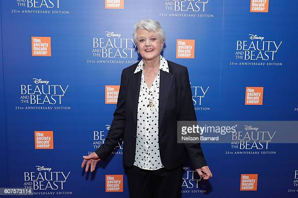 Angela Lansbury attends the special screening of Disney's 'Beauty and the Beast' to celebrate the 25th Anniversary Edition release on BluRay and DVD...