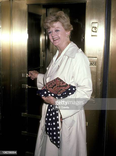 Angela Lansbury during Angela Lansbury Sighting at the Mayfair Hotel July 2 1986 at Mayfair Hotel in New York City New York United States