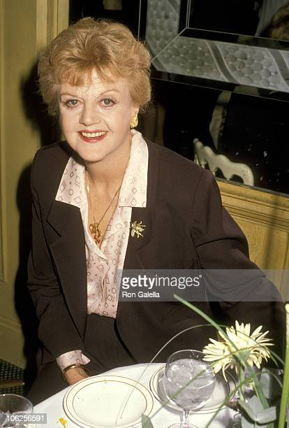 Angela Lansbury during Reception Honoring the Chairman of Rai Radio TV Italiana at Chasen's Restaurant in Beverly Hills California United States