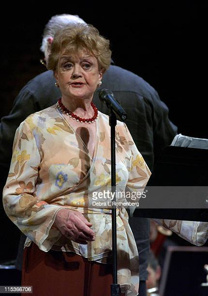 Angela Lansbury during Wall to Wall Sondheim at Symphony Space in New York City New York United States