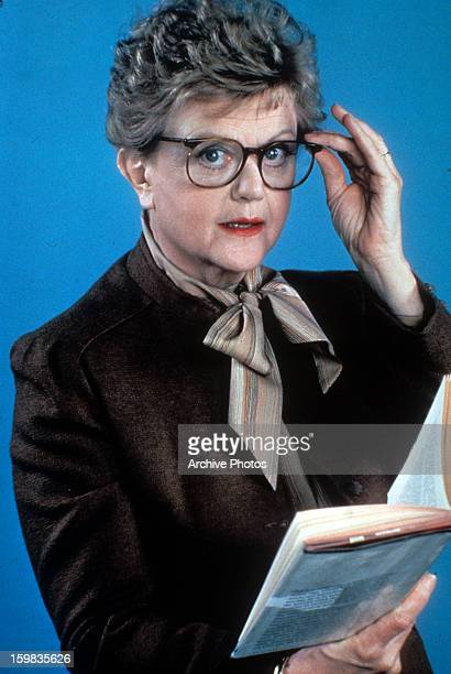 Angela Lansbury holds a book in publicity portrait for the television series 'Murder She Wrote' Circa 1984