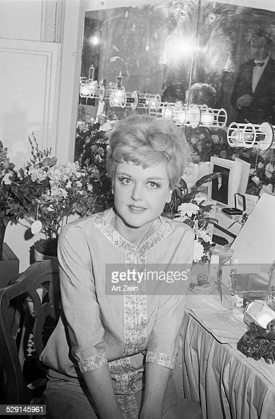 Angela Lansbury seated at her theater dressing table circa 1970 New York
