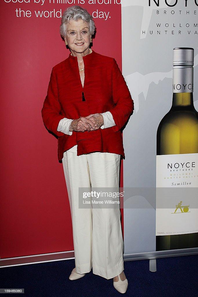 Angela Lansbury walks the red carpet at the 2012 Sydney Theatre Awards at the Paddington RSL on January 14, 2013 in Sydney, Australia.