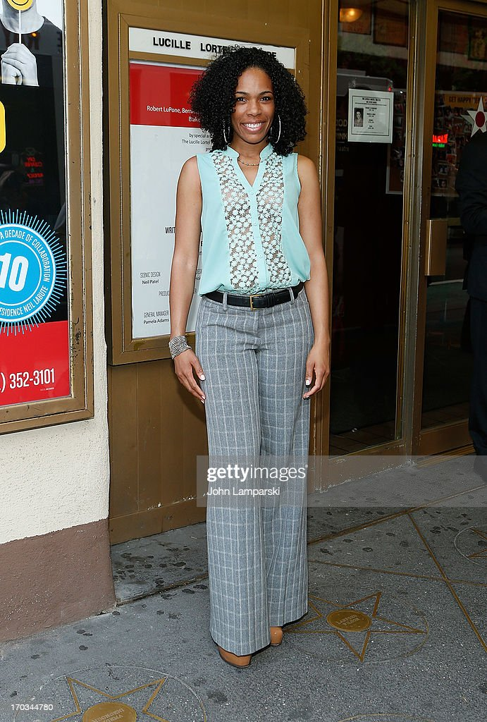 Angela Lewis attends 'Reasons To Be Happy' Broadway Opening Night at the Lucille Lortel Theatre on June 11, 2013 in New York City.
