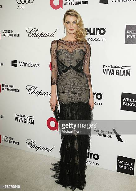 Angela Lindvall arrives at the 22nd Annual Elton John AIDS Foundation's Oscar viewing party held on March 2 2014 in West Hollywood California