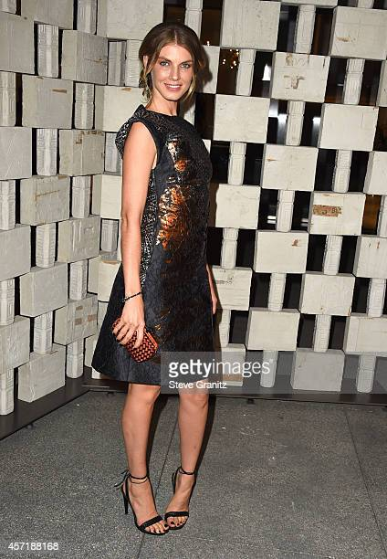 Angela Lindvall arrives at the Hammer Museum's 'Gala In The Garden' Honoring Joni Mitchell And Mark Bradford at Hammer Museum on October 11 2014 in...