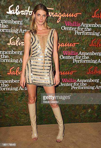 Angela Lindvall arrives at the Wallis Annenberg Center For The Performing Arts Inaugural Gala at Wallis Annenberg Center for the Performing Arts on...