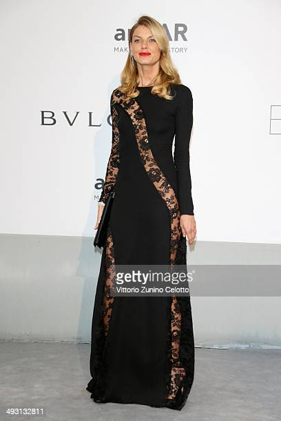 Angela Lindvall attends amfAR's 21st Cinema Against AIDS Gala Presented By WORLDVIEW BOLD FILMS And BVLGARI at Hotel du CapEdenRoc on May 22 2014 in...