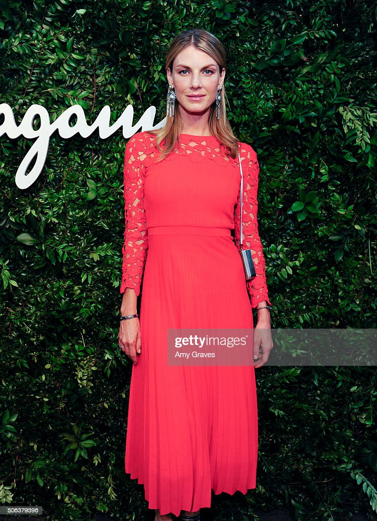 Angela Lindvall attends the Salvatore Ferragamo 100th Year Celebration in Hollywood and Rodeo Drive Flagship Store Opening on September 9, 2015 in Beverly Hills, California.