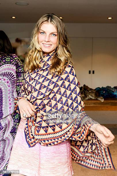 Angela Lindvall attends Theodora And Callum Cocktail Party on March 13 2013 in Beverly Hills California