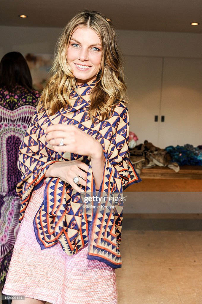 Angela Lindvall attends Theodora And Callum Cocktail Party on March 13, 2013 in Beverly Hills, California.