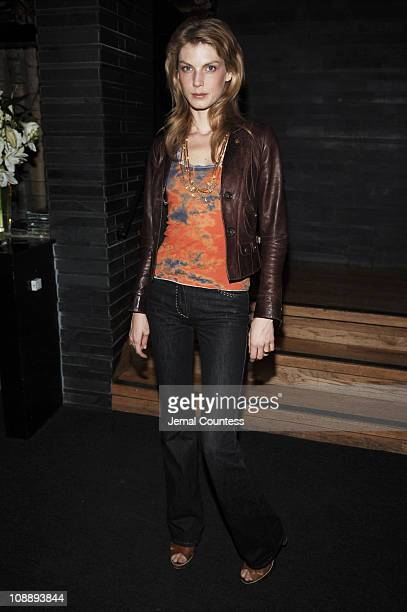 Angela Lindvall during Armani Exchange Celebrates Jonathan Rhys Meyers for Nylon Guys Summer Issue Cover at Butter at Butter in New York City New...