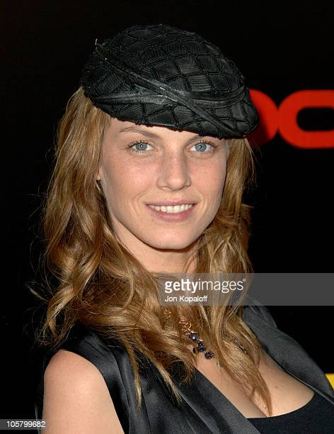 Angela Lindvall during The 3rd Annual Lakers Casino Night Arrivals at Barker Hangar in Santa Monica California United States