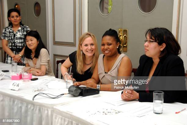 Angela Lui Danielle Hall Tayumika Zurita and Yasmin Santiago attend New York Bag Ladies Luncheon for the SLE Lupus Foundation at 583 Park Avenue on...