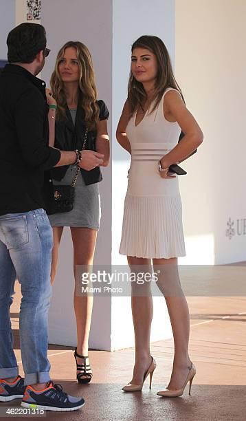 Angela Martini and Alicia Rountree are seen on December 4 2013 in Miami Beach Florida