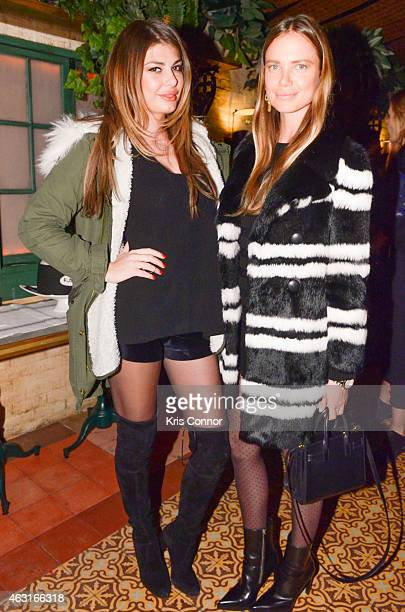 Angela Martini and Alicia Rountree attend the Rotten Roach and Five Story Cocktail reception at Marlton Hotel on February 10 2015 in New York City