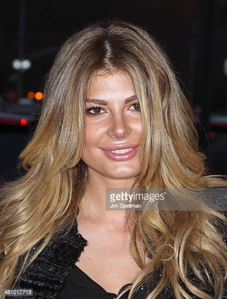 Angela Martini attends the Fox Searchlight Pictures' 'Dom Hemingway' screening hosted by The Cinema Society And Links Of London on March 27 2014 in...