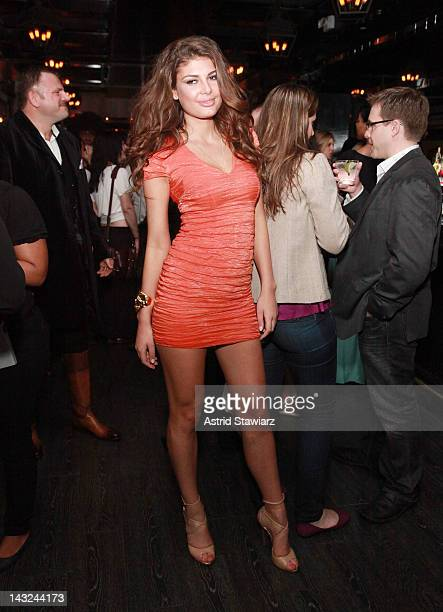 Angela Martini attends Tribeca Film Festival 2012 AfterParty For Mansome At 121 Fulton Street on April 22 2012 in New York City