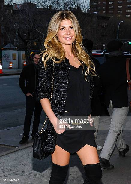 Angela Martini is seen on March 27 2014 in New York City