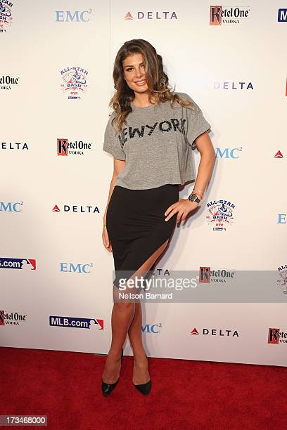 Angela Martini Miss Universe Albania 2010 attends Major League Baseball's All Star Bash presented by MLBcom Delta and Nivea at Roseland Ballroom on...