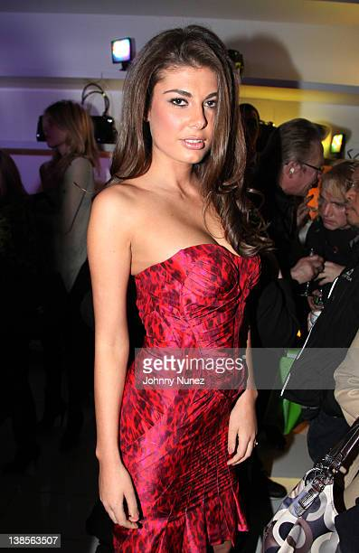 Angela Martini visits the Flagships Grand Resort at 541 Broadway on February 8 2012 in New York City