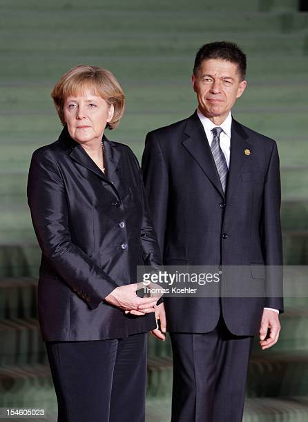 Angela Merkel Federal Chancellor and Chairman of the Christian Democratic Union and her husband Joachim Sauer at the Nato Summit April 3 2009...