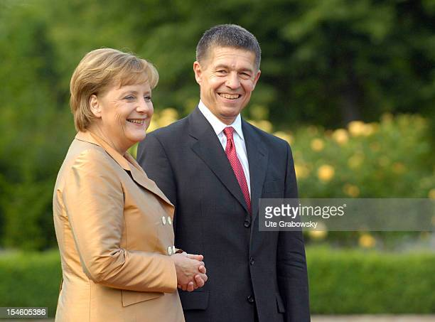 Angela Merkel Federal Chancellor and Chairman of the Christian Democratic Union and her husband Joachim Sauer June 6 2007 in Heiligendamm Germany