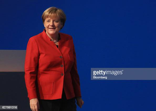 Angela Merkel Germany's Chancellor and Christian Democratic Union party leader arrives at the CDU party conference in Essen Germany on Tuesday Dec 6...