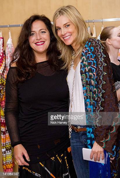 Angela Missoni and Kim Hersov host lunch at Missoni on March 15 2012 in London England