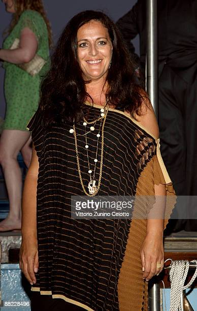 Angela Missoni attends the Bruce Nauman dinner party hosted by Missoni on the boat 'Timoteo' during the 2009 Venice Biennale on June 4 2009 in Venice...
