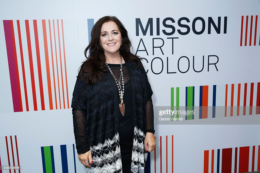 Angela Missoni attends the Missoni Art Colour preview in partnership with Woolmark at The Fashion and Textile Museum on May 4, 2016 in London, England.