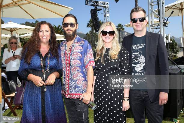 Angela Missoni Jared Leto Kristina O'Neill and Jason Gay attend DLUXE presented by WSJ Magazine at The Montage Laguna Beach on October 18 2017 in...