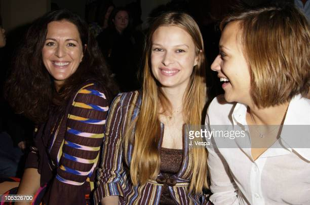 Angela Missoni Vinessa Shaw Rashida Jones during Angela Missoni hosts Private Champagne Brunch and Preview of Special Evening Collection for Academy...