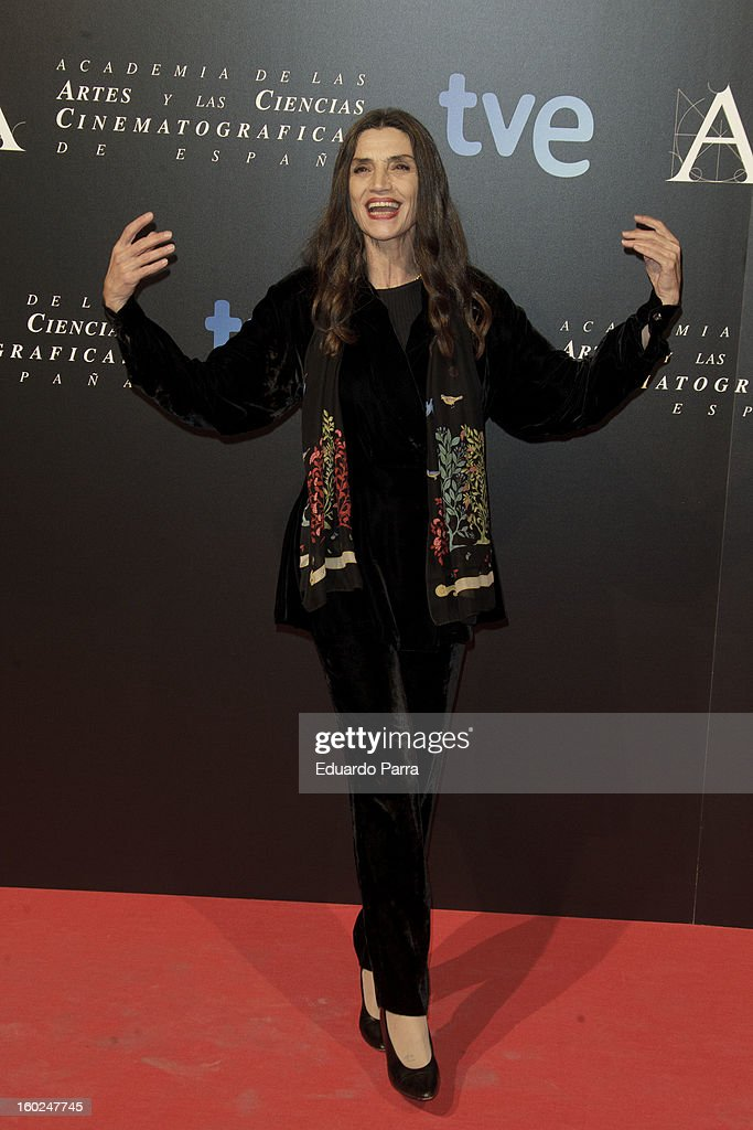 Angela Molina attends Goya awards final candidates party photocall at El Canal theatre on January 28, 2013 in Madrid, Spain.