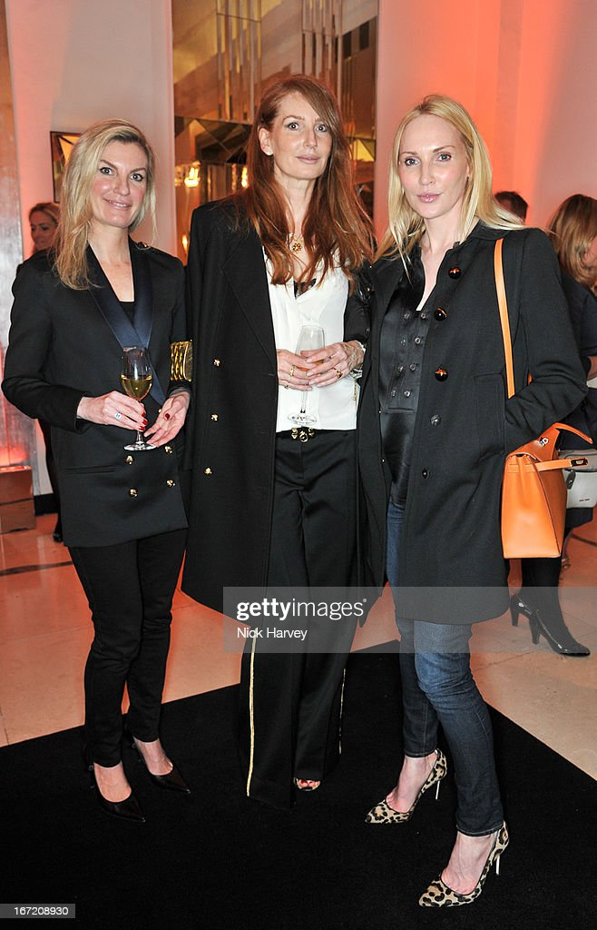 Angela Radcliffe and Tamzin Greenhill attend the Veuve Clicquot Business Woman of the Year award at Claridges Hotel on April 22, 2013 in London, England.