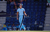 Angela Reakes of the Breakers celebrates taking the wicket of Tahlia McGrath of the Scorpions during the WNCL Final match between South Australia and...