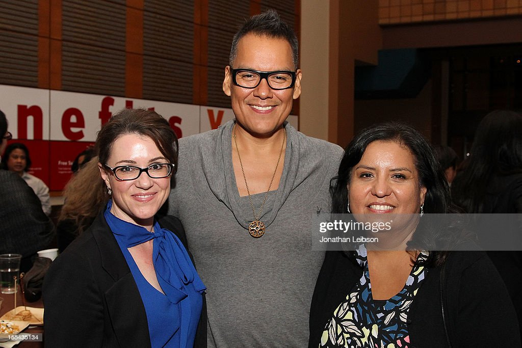 Angela Riley, Bird Runningwater and Rebecca Rosser attend the Sundance Institute At The Autry Presents 'Native Films' at The Autry National Center on November 3, 2012 in Los Angeles, California.