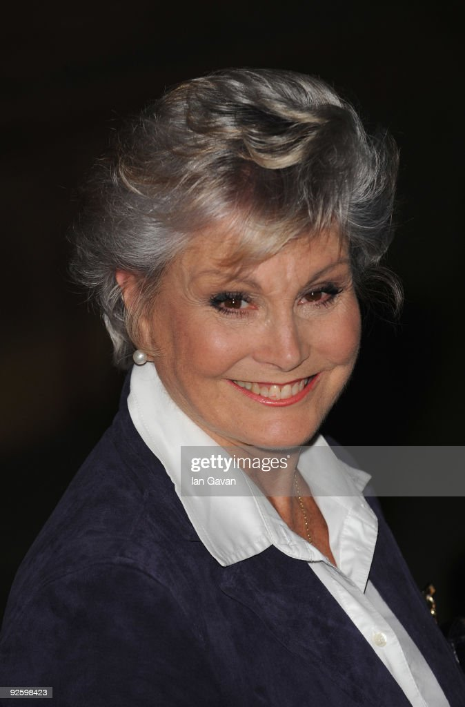 Angela Rippon attends the PINKTOBER Women Of Rock Charity Concert at The Royal Albert Hall on November 1 2009 in London England