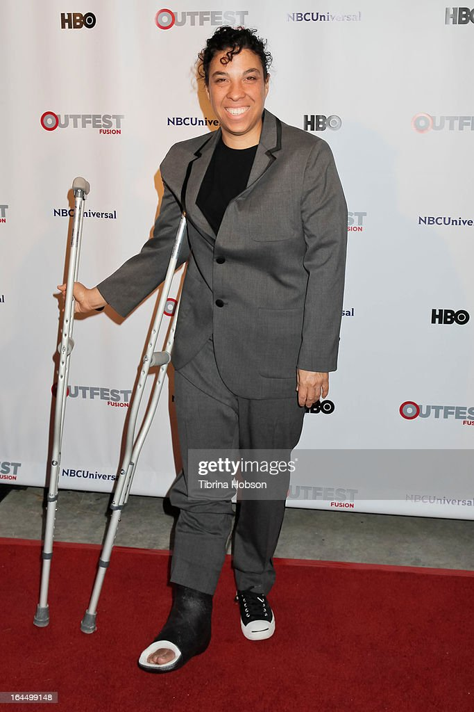 Angela Robinson attends the OutFest Fusion LGBT People of Color Film Festival closing night at the Egyptian Theatre on March 23, 2013 in Hollywood, California.