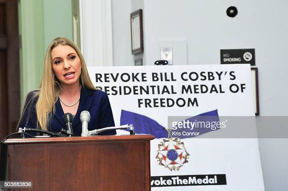 Angela Rose Executive Director of Promoting Awareness Victims Empowerment speak during a news conference to discuss legislation to revoke 'The Medal...