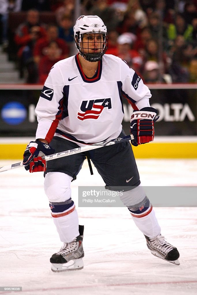 <a gi-track='captionPersonalityLinkClicked' href=/galleries/search?phrase=Angela+Ruggiero&family=editorial&specificpeople=220275 ng-click='$event.stopPropagation()'>Angela Ruggiero</a> #4 of Team USA skates during the game against Team Canada at Scotiabank Place on January 1, 2010 in Ottawa, Canada.