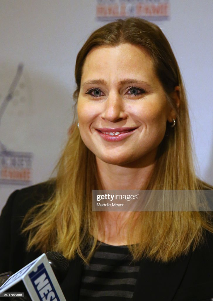<a gi-track='captionPersonalityLinkClicked' href=/galleries/search?phrase=Angela+Ruggiero&family=editorial&specificpeople=220275 ng-click='$event.stopPropagation()'>Angela Ruggiero</a> talks with the media before the U.S. Hockey Hall of Fame Induction ceremony at Renaissance Boston Waterfront Hotel on December 17, 2015 in Boston, Massachusetts.
