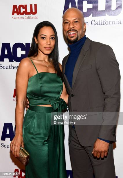 Angela Rye and Common attend ACLU SoCal Hosts Annual Bill of Rights Dinner at the Beverly Wilshire Four Seasons Hotel on December 3 2017 in Beverly...