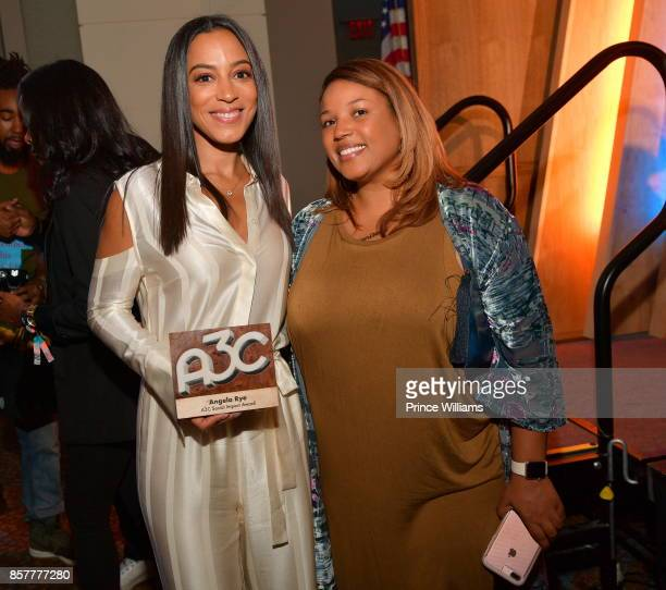 Angela Rye and Janee Bolden attend A3C Welcome To Atlanta Reception at the Loudermilk Conference Center on October 4 2017 in Atlanta Georgia