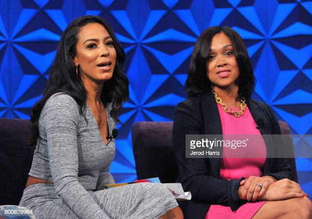 Angela Rye and Marilyn Mosby at day one of Genius Talks sponsored by ATT during the 2017 BET Experience at Los Angeles Convention Center on June 24...