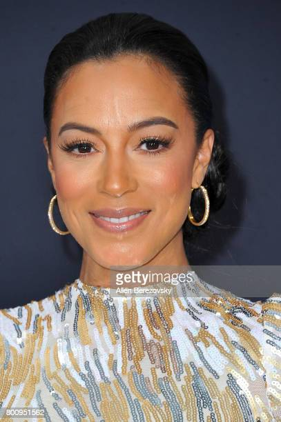 Angela Rye arrives at the 2017 BET Awards at Microsoft Theater on June 25 2017 in Los Angeles California