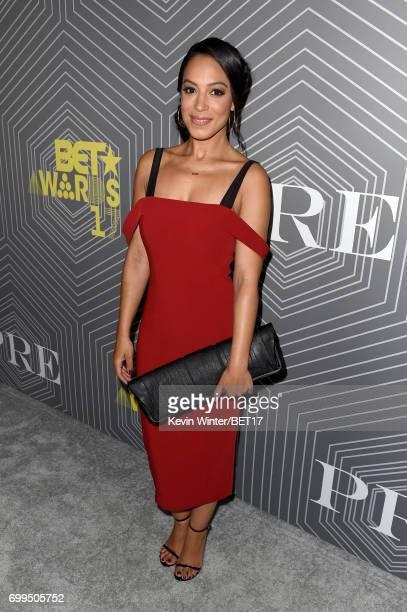 Angela Rye at the Debra Lee PreBET Awards Dinner on June 21 2017 in Los Angeles California