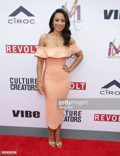 Angela Rye attends Culture Creators 2nd Annual Awards Brunch Presented By Motions Hair And Ciroc at Mr C Beverly Hills on June 24 2017 in Beverly...