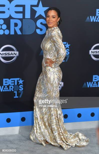 Angela Rye attends the 2017 BET Awards at Microsoft Theater on June 25 2017 in Los Angeles California